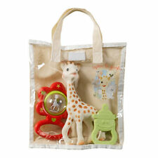 SOPHIE THE GIRAFFE -VANILLA SCENTED BABY TEETHER & SOPHIE RATTLE WITH  GIFT  BAG