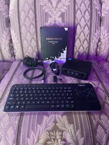 Minisforum U700 Mini Pc intel i5,3.16GHz,128 Gb SSD Plus 500gb SSD,8gb,Keyboard
