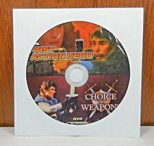 2movie color DVD First Action Hero,Choice Of Weapons Fabio TESTI Barbara HERSHEY