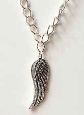 """Silver Crystal Angel Wing Necklace Plated 16-19"""" Inch Angels Wings USA Seller"""