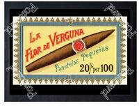 Historic La Flor de Verguna Pantella Cigars, c.1880 Advertising Postcard