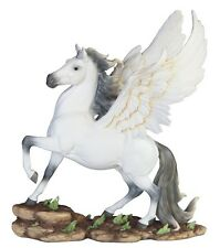 15 Inch White Pegasus Statue Fantasy Magic Figurine Collectible Sculpture
