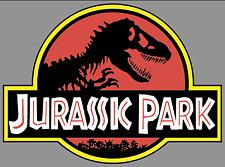 "JURASSIC PARK Logo 9"" Premium Vinyl Decal Bumper Sticker Jeep Safari Dinosaur"