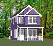 16x30 House -- 2 Bedroom  -- PDF Floor Plan -- 901 sq ft -- Model 22B