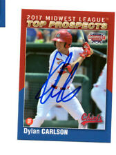 Dylan Carlson 2017 Midwest League Top Prospect auto signed card Peoria Chiefs g