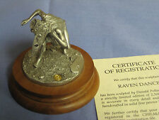 1991 Chilmark RAVEN DANCER by Don Polland, Pewter Sculpture, Certificate COA