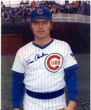 TOM PHOEBUS CHICAGO CUBS SIGNED 8X10 PHOTO W/COA