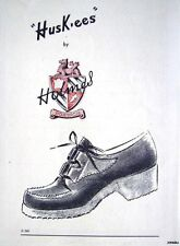 1940s Holmes 'HUSKEES' Ladies Shoes Original Advert - Small Print Ad Vintage