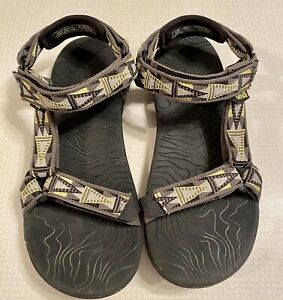Teva Sandals Gray And Green Size 3