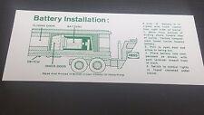 5 Hess  1975  / 1976  BARREL TRUCK BATTERY INSTRUCTION CARD