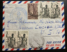1954 Congo French Navy Sharpshooter Battalion Airmail cover To Chicago iL USA