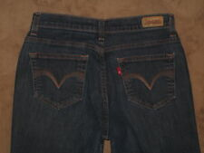 Levi's 512 Size 8 S / C Perfectly Slimming Straight Leg Dark Blue Stretch Denim