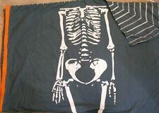 IKEA Benrangel Blue Skeleton Duvet Cover Orange Stripe TWIN