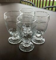 """Libbey Chivalry Clear Glass, Banquet Goblets, Glasses, Set of 4, 5 3/8"""" Water"""