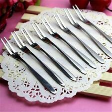 Cocktail Dessert Fork Tasting Stainless Steel Appetizer Cake Fruit Fork New LK