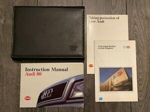 RARE AUDI 80 OWNERS USER MANUAL HANDBOOK & WALLET SET 1991-1996 * B4 TDI PETROL