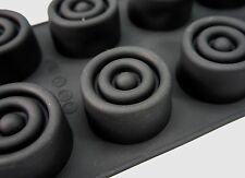 8 cell large SPIRAL Silicone Mould Cakes Soap Bath Bombs Wax Candles Massage Bar