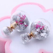 ladies girl gift xmas star double ball globe retro fashion set new Earrings ER18