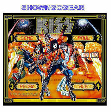 KISS PINBALL MACHINE BACK GLASS POSTER BALLY ARMY GENE PAUL ACE PETER BACKGLASS