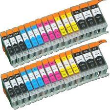 30x Drucker Patronen für canon PIXMA IP 4200 4300 ip4500 5200 mit Chip IP3300 8y
