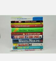 Lot of 10 Random Diet Fitness Exercise Weight Loss Health Cancer Books