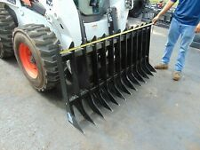 "2020 NEW 70"" ROOT RAKE SKID CLEARING STEER BRUSH ROCK SIFTER ATTACHMENT"