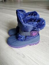 New Toddler Girl Waterproof Velcro Winter Boots Size 10