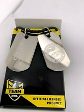 NRL Parramatta Eels Gents Double Dog Tag Stainless Steel Necklace RRP $49.95