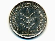 Palestine:KM-7,100 Mils,1942 * Silver * BU ! *