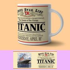 More details for titanic white star line ceramic mug (og)