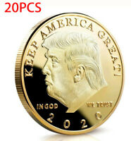 20*Donald J Trump 2020 Keep America Great Commander Chief Gold Challenge Coin RF