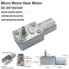 DC 6V 12V 24V Mini 370 Turbo Worm Gearbox Reduction Gear Motor High Large Torque