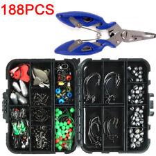 188pcs/set Fishing Tackle Box Kit Sea Set with Multiple Accessories of Jig-Hooks