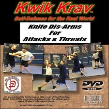 """KNIFE DISARMS FOR ATTACKS & THREATS"", Krav Maga for personal protection DVD"