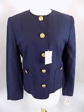 NWT $129. Apart Women's Blazer Jacket Top Sz 6 Navy Gold buttons Pockets Lined