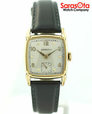 Vintage Hamilton 10K Yellow Gold Filled Black Leather 17 Jewels Men's Watch