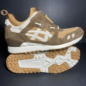New Size 10 Mens ASICS Tiger GEL Lyte MT Shoes Sheep Suede Brown Tan Travis 🔥