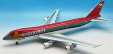 jfox jf7472008 1/200 Boeing 747-200 Northwest n625us jaune ruban avec pied