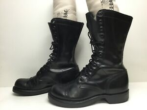 VTG WOMENS CORCORAN MILITARY BLACK BOOTS SIZE 6.5 M