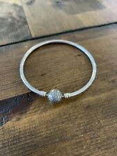 """CLEARANCE - Authentic Pandora Silver CZ Snowflake """"Unique As You Are"""" Bangle!"""