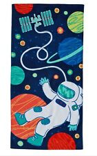 Outer Spaceman Beach Pool Towel 28x58 Velour/Terry Jumping Beans Kids Nwt $26