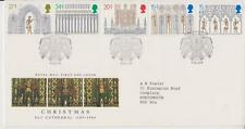 GB ROYAL MAIL FDC 1989 CHRISTMAS ELY STAMP SET ELY PMK