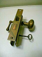 Antique Russwin Door Lock No.2 with Doorknobs and Plates