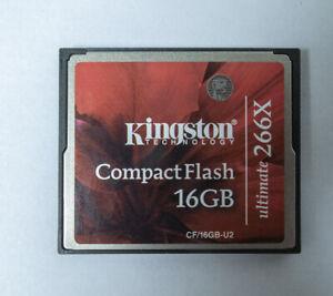 KINGSTON ULTIMATE 266X 16 GB COMPACT FLASH (CF) CARD