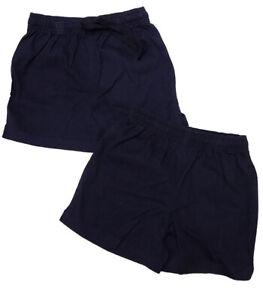 Unisex Girls Boys P.E Shorts School Uniform Sport M&S Navy Size 2 3 4 5 6 7 8 9