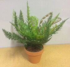 New Small Ladder / Leather Fern Bush Artificial Synthetic Pot Plant 20cm