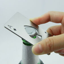 Bottle Opener Stainless Steel Credit Card Size Beer Bar Blade Spade a
