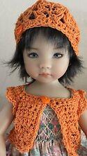 "*Orange Blossom""  Sweater & Hat~Effner Darling ~ 13"" Dolls"