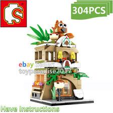 Sembo City Street Squirrel Shop Restaurant Coffee Mini Blocks Building Toy