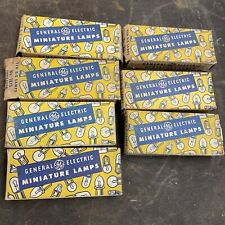 New listing 7 partial boxes Vintage Lot Miniature Lamp Projector Bulbs General Electric / Ge